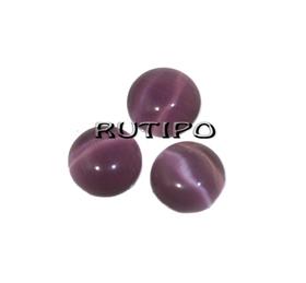Кабошон кошачий глаз Purple, 6мм, 100шт