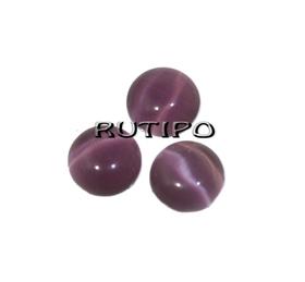 Кабошон кошачий глаз Purple, 6мм,шт