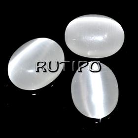 Кабошон котяче око White, 8 * 6 * 3 мм, 100шт