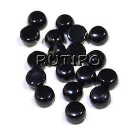 Cabochon black agate 4*2mm, pcs