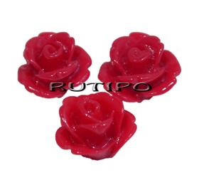 Кабошон Роза красная ,10мм, шт