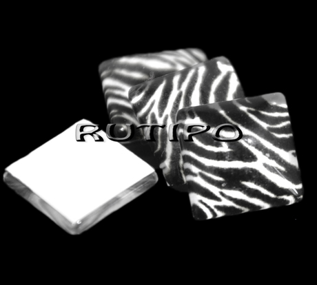Кабошон клейовий Зебра, 10 * 4 мм, шт