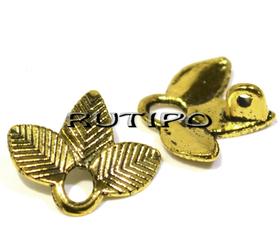 Коннектор листики под золото 14 мм, шт