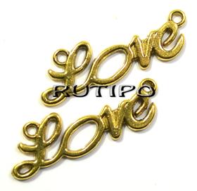 Коннектор LOVE под золото, 33*10 мм, шт