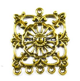 Коннектор винтажный под золото, 36*32мм, шт
