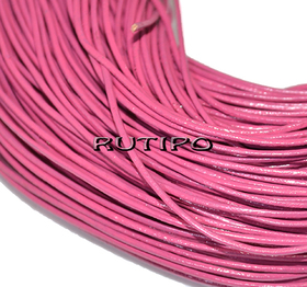 Шкіряний шнур рожевий, 1мм * 1м