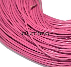 Кожаный шнур розовый, 1мм*1м