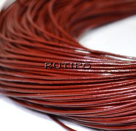 Шкіряний шнур темно-червоний, 1мм * 1м
