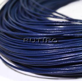 Шкіряний шнур темно-синій, 1мм * 1м