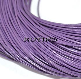 Кожаный шнур светло-фиолетовый, 1мм*1м