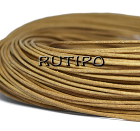 Шкіряний шнур світло-коричневий, 1мм * 1м