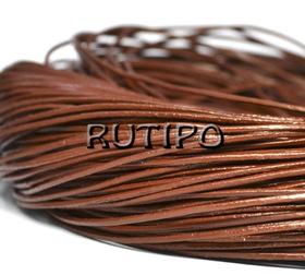 Шкіряний шнур шоколадний, 1мм * 1м