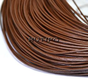 Шкіряний шнур коричневий, 1мм * 1м