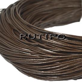 Шкіряний шнур темно-коричневий, 1мм * 1м