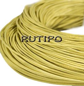 Шкіряний шнур світло-жовтий, 1.5мм * 1м