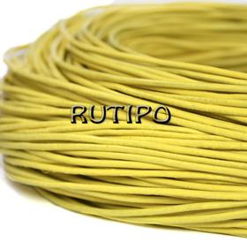 Шкіряний шнур жовтий, 1.5мм * 1м