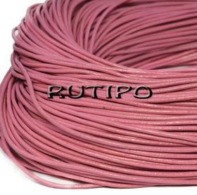 Кожаный шнур розовый, 1.5мм*1м
