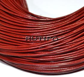 Кожаный шнур темно-красный, 1.5мм*1м