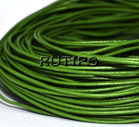 Кожаный шнур зеленый, 1.5мм*1м