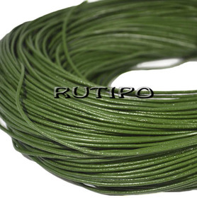 Кожаный шнур темно-зеленый, 1.5мм*1м