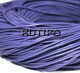 Кожаный шнур светло-фиолетовый, 1.5мм*1м
