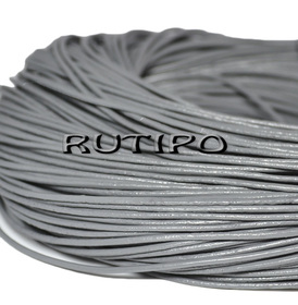 Кожаный шнур светло-серый, 1.5мм*1м
