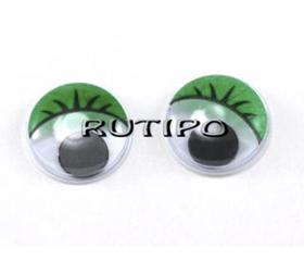 Очки з бігають зіницею зелені, 10мм, пара