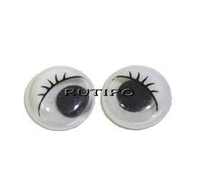 Глазки с бегающим зрачком белые, 10мм, пара