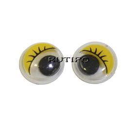 Глазки с бегающим зрачком желтые, 10мм, пара