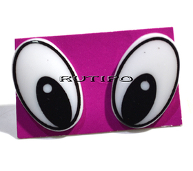 Глазки для игрушек овальные, 25*16мм, компл.