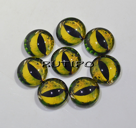 117-6 Cabochon eyes, glass, 10mm, pair