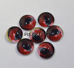 117-8 Cabochon eyes, glass, 10mm, pair