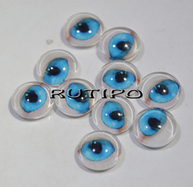 118-3 Cabochon Eyes, Glass, 10mm, Pair