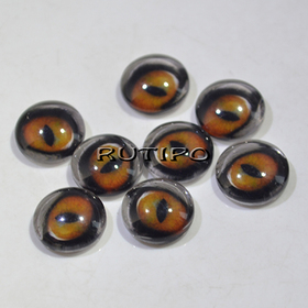 118-5 Cabochon eyes, glass, 10mm, pair