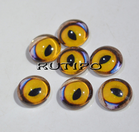 118-8 Cabochon eyes, glass, 10mm, pair