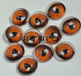 119-1 Cabochon Eyes, Glass, 10mm, Pair