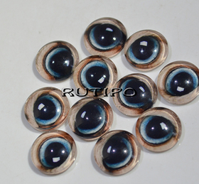 119-2 Cabochon Eyes, Glass, 10mm, Pair