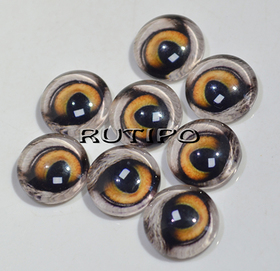 119-4 Cabochon Eyes, Glass, 10mm, Pair