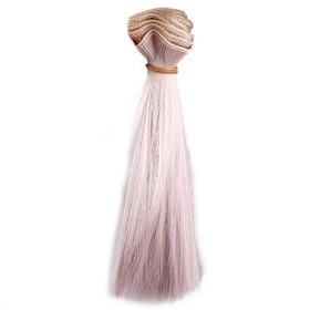 Волосы для кукол жемчужный блондин, 15*100см