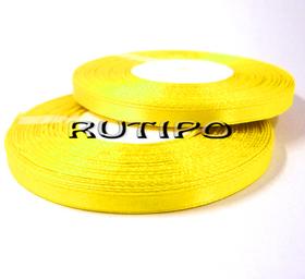 8011 Лента атласная лимонно-желтая, 6мм * 32.8м
