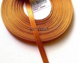 3130 Лента атласная темно-оранжевая, 6мм*1м