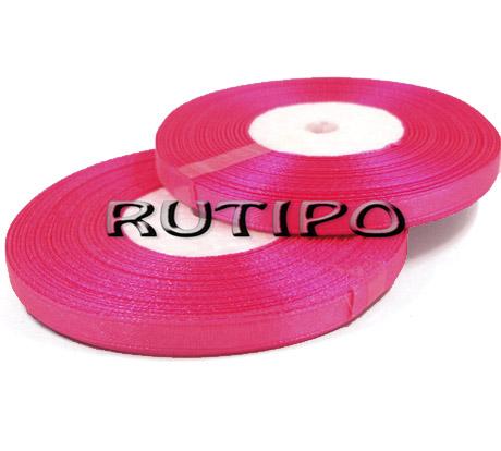 8040 Лента атласная ярко-розовая, 6мм*32.8м (бобина)