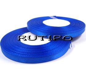 8107 Лента атласная синяя, 6мм*32,8м