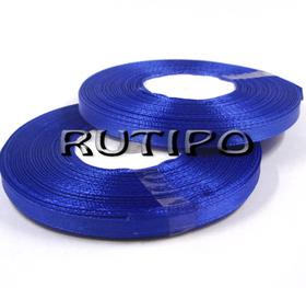 8109 Лента атласная синяя, 6мм*32.8м