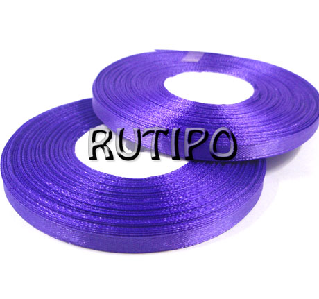 8115 Лента атласная фиолетовая, 6мм*32.8м (бобина)