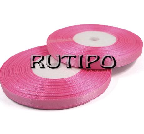 8039 Лента атласная розовая, 6мм*32.8м