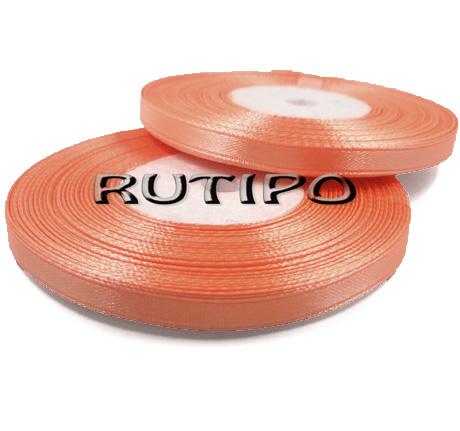 8025 Лента атласная оранжевый персик, 6мм*32.8м (бобина)
