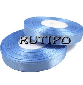 8099 Стрічка атласна блакитна, 1см * 1м
