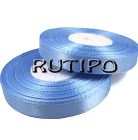 8099 Стрічка атласна блакитна, 1см * 32.5м (бобіна)