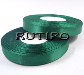 8090 Стрічка атласна смарагдово-зелена, 1см * 32.5м (бобіна)